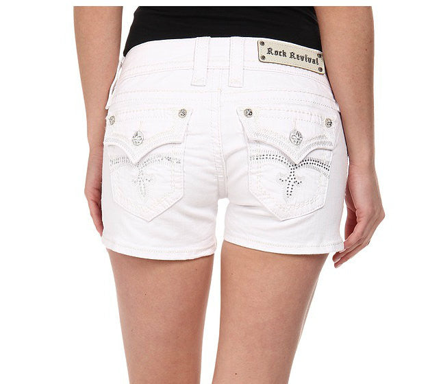 Rock Revival Celine White Shorts | All Dec'd Out