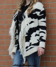 Renee C. | Cow Print Sweater Cardigan