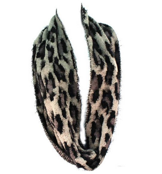 Treska | Leopard Infinity Scarf Grey - All Decd Out