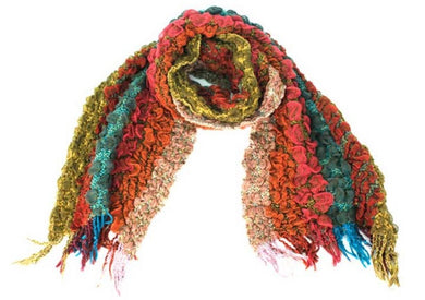Treska | Rouched Scarf Multicolored - All Decd Out