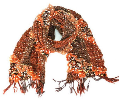 Treska | Rouched Flecked Scarf Orange - All Decd Out