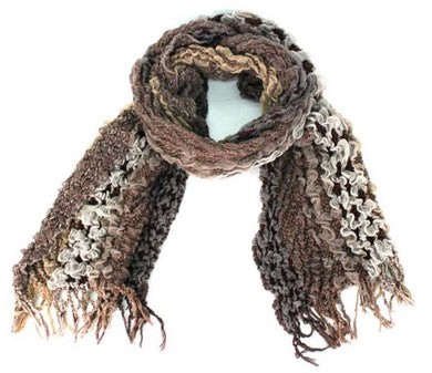 Treska | Rouched Scarf Brown - All Decd Out