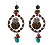 Treska | Beaded Ring Drop Earrings