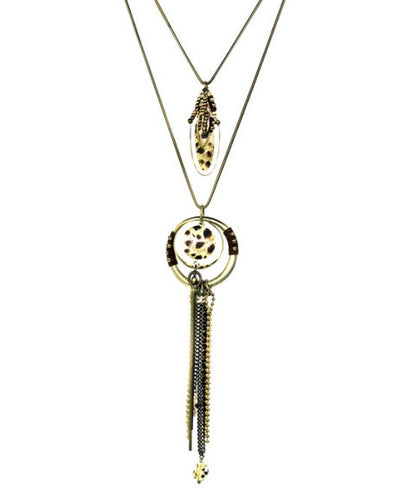 Treska 2 in 1 High Low Pendant Necklace  | All Dec'd Out