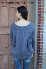 Umgee | Over-sized Fuzzy Sweater Charcoal