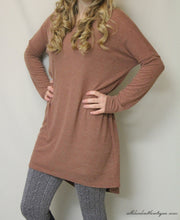 Umgee | Sweater Tunic Brick