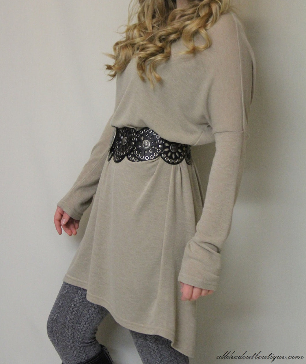 Umgee | Sweater Tunic Taupe