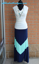Vanilla Bay | Blue and Mint Maxi Skirt