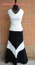 Vanilla Bay | Black and White Maxi Skirt