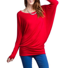 Vanilla Bay | Dolman  Long Sleeve Top Red
