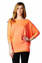 Vanilla Bay | Dolman 3/4 Sleeve Top Red/Orange