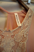 Vanilla Bay | Vintage Ivory Lace Top Peach