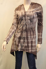 Vocal | Tye Dye Hoodie Tunic Brown