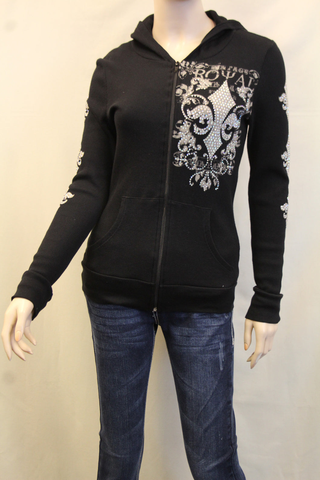 Vocal | Embellished Long Sleeve Jacket with Fleur De Lis