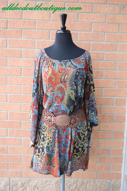 Yahada | Paisley Printed Dress