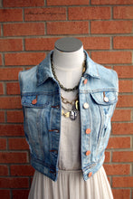 YMI | Light Denim Cropped Vest