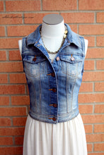 YMI | Denim Cropped Vest