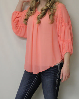 Yahada | Sheer Top Coral