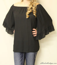 Yahada | Off The Shoulder Tunic Black