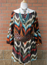 Yahada | Chevron Tunic Dress