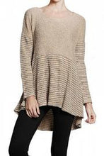 A'reve | High Low Sweater Taupe - All Decd Out