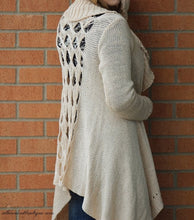 Double Zero | Cut Out Cardigan Cream - All Decd Out
