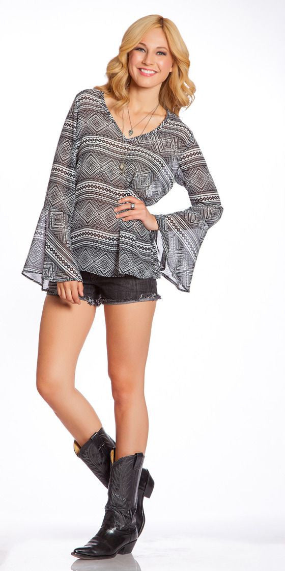 2 Tee Couture Aztec Print Top | All Decd Out