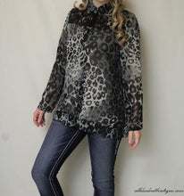 Lady Noiz | Grey Leopard Print with Black Lace - All Decd Out