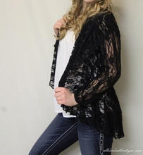 Lady Noiz | Lace Cardigan Black - All Decd Out