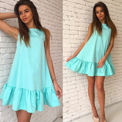 2017 Women's Vestidos Sexy Ruffles Dress Summer Sleeveless Casua - All Decd Out