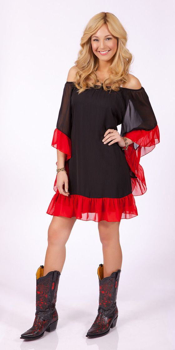 2 Tee Couture | Dress With Ruffles - All Decd Out