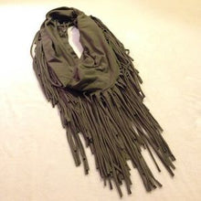 Infinity Scarf | Fringe Olive - All Decd Out