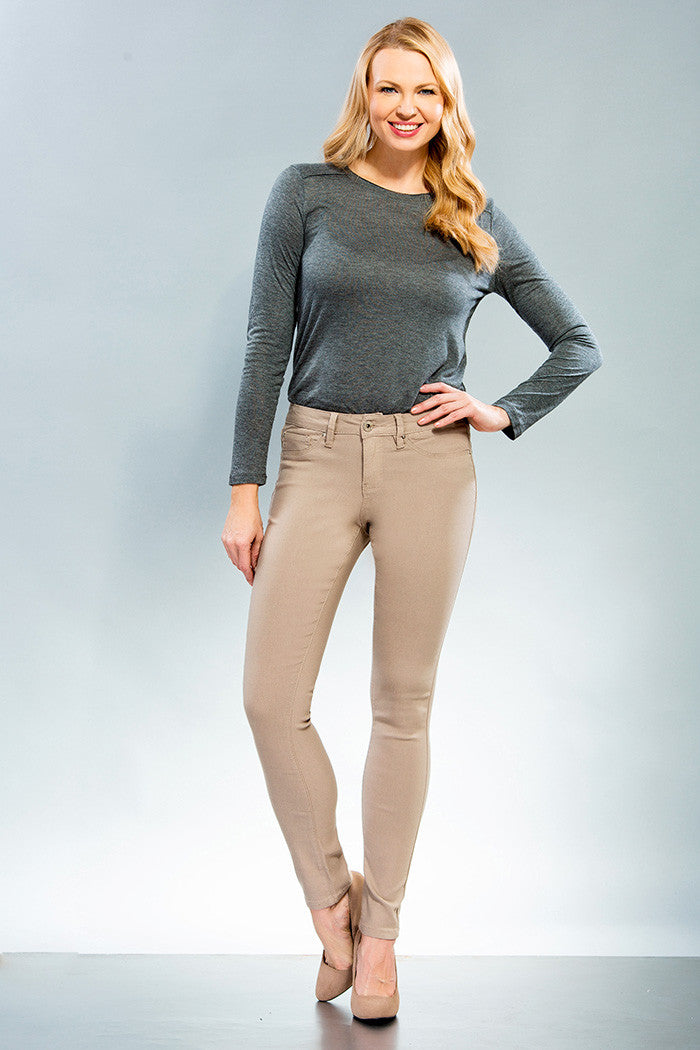 YMI Royalty For You | Missy Hyper Stretch Skinny Sand - All Decd Out