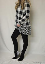 All Dec'd Out | White and Black Plaid Long Sleeve
