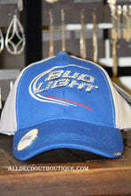 Bud Light | Womens Swarovski Embellished Blue/Grey Ball Cap - All Decd Out