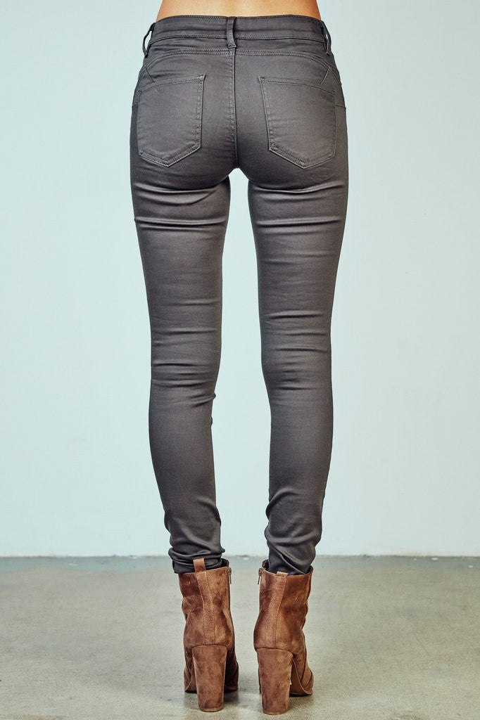 5b10b1558c4e4 YMI Royalty For You Missy Hyper Stretch Charcoal Skinny | All Decd Out