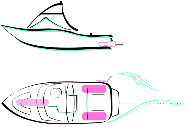 WakeSurfing attachment and weighting of boat diagram and instructions