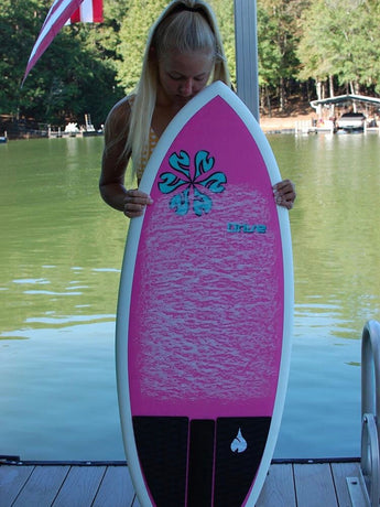 NautiCurl Pink WakeSurf Board Girls Best