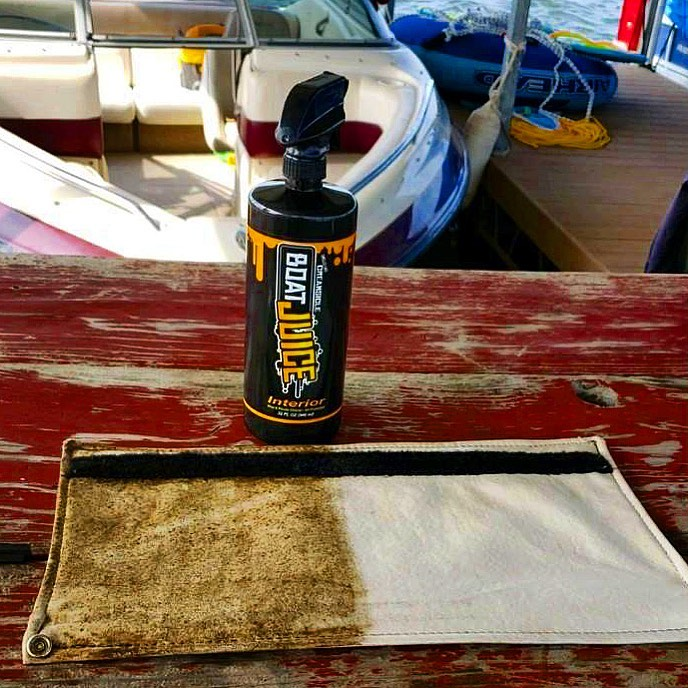 Vinyl Boat Cleaner for Wakeboard Boats - Boat Juice NautiCurl