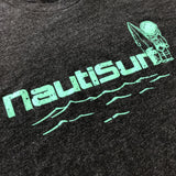 NautiCurl NautiSurf Shirt with Astroknot - Turquoise and charcoal