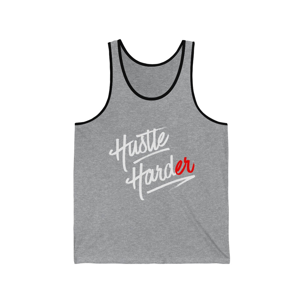 (Hustle Harder) Unisex Jersey Tank