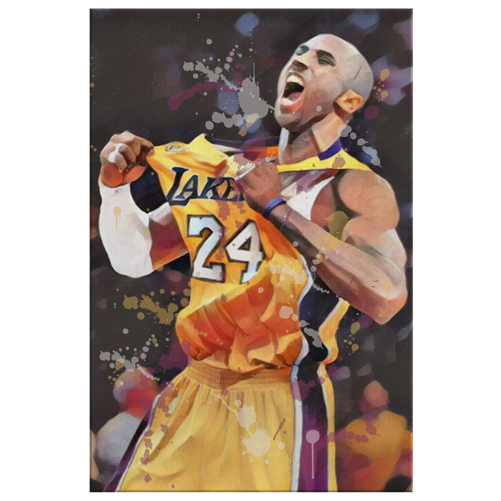 Kobe Jersey Flex Abstract Canvas