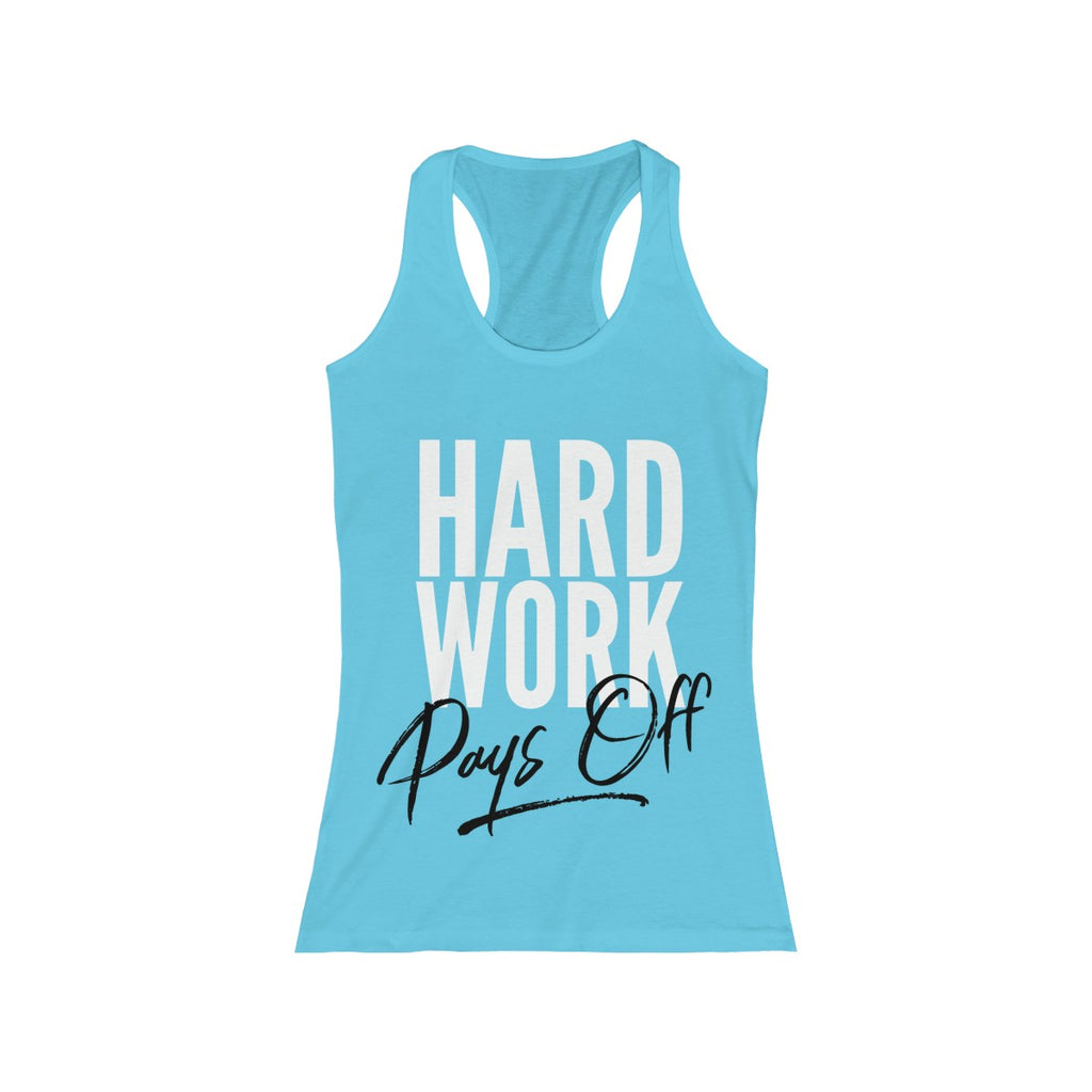 (Hard Work) Women's Racerback Tank