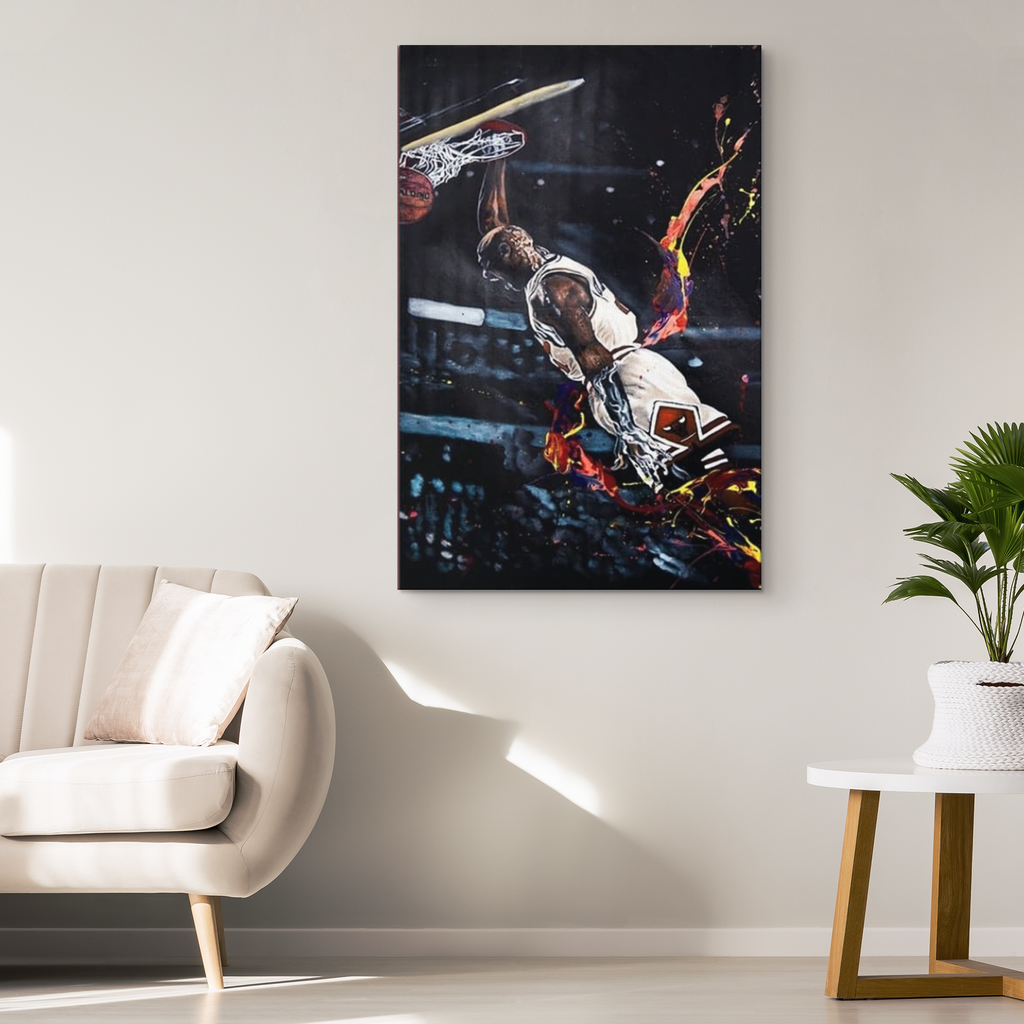 Jordan Flaming Dunk Canvas