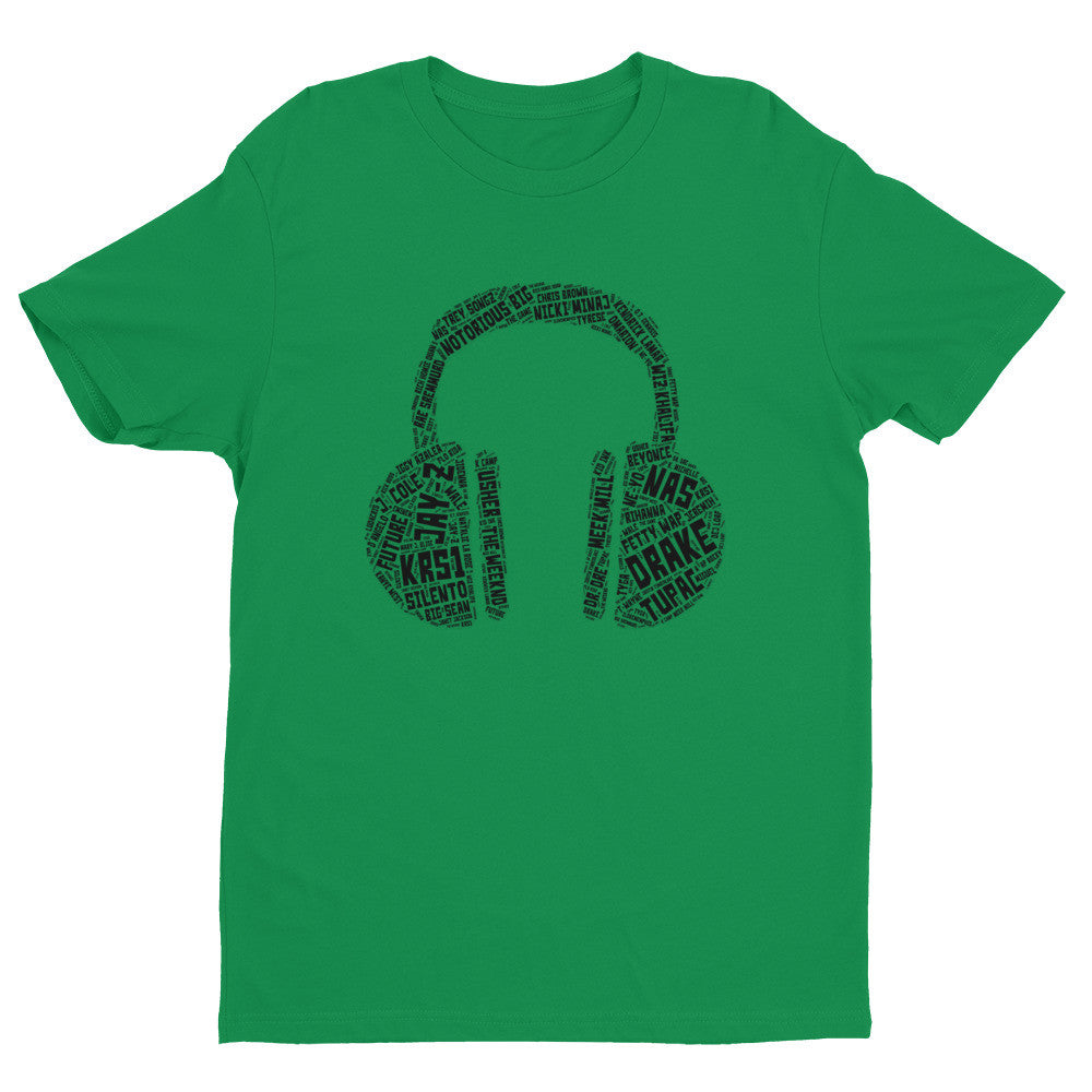 (Headphones) Short sleeve men's t-shirt