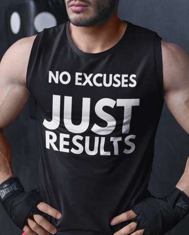 (No Excuses) Men's Sleeveless Performance Tee