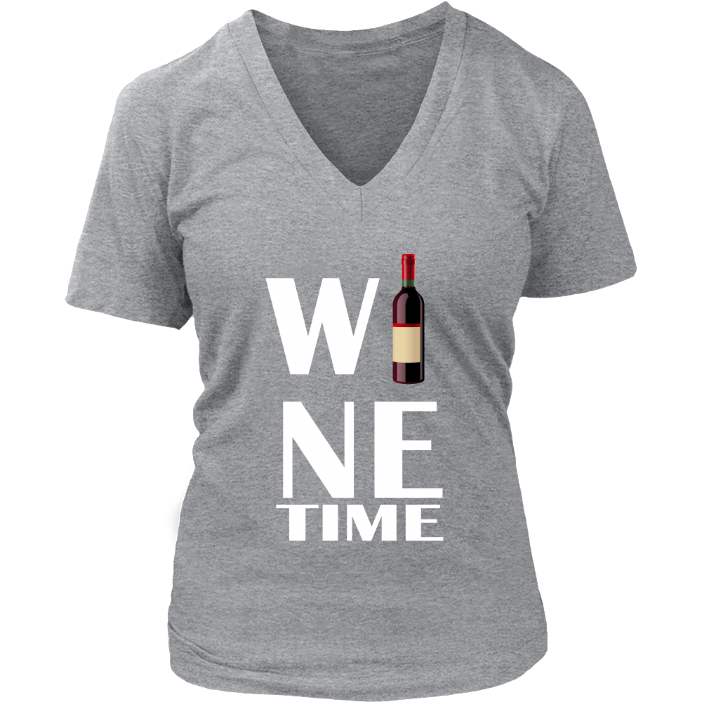 (Wine Time) District Womens V-Neck