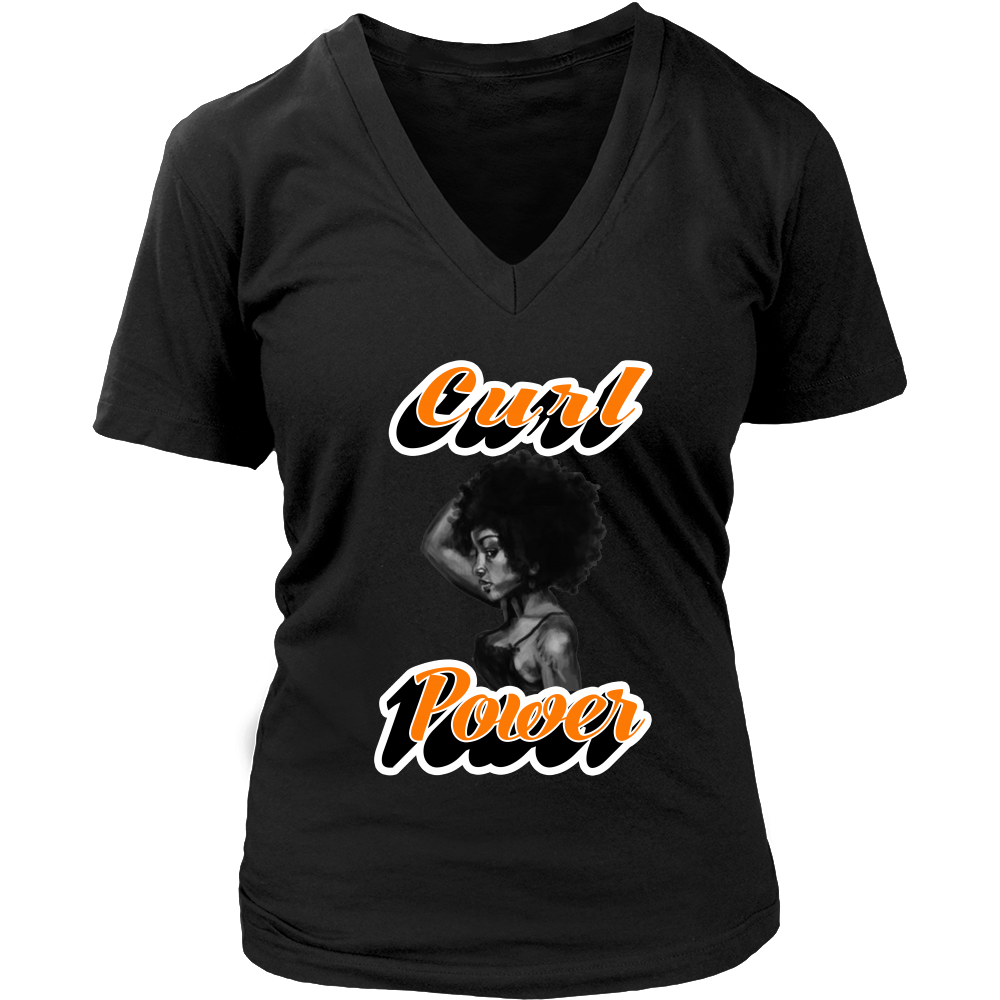 (Curl Power) District Womens V-Neck