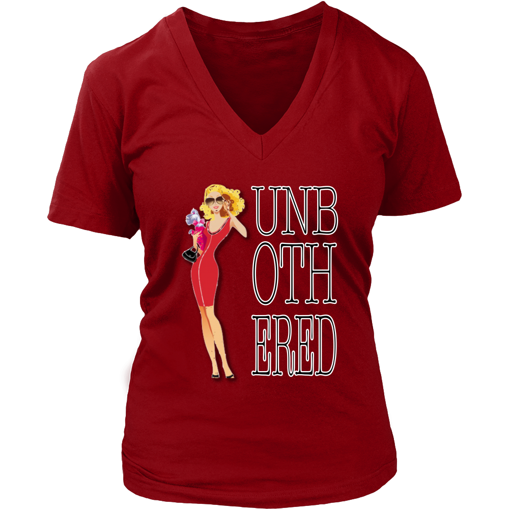 (Unbothered) Women's V-Neck T-Shirt