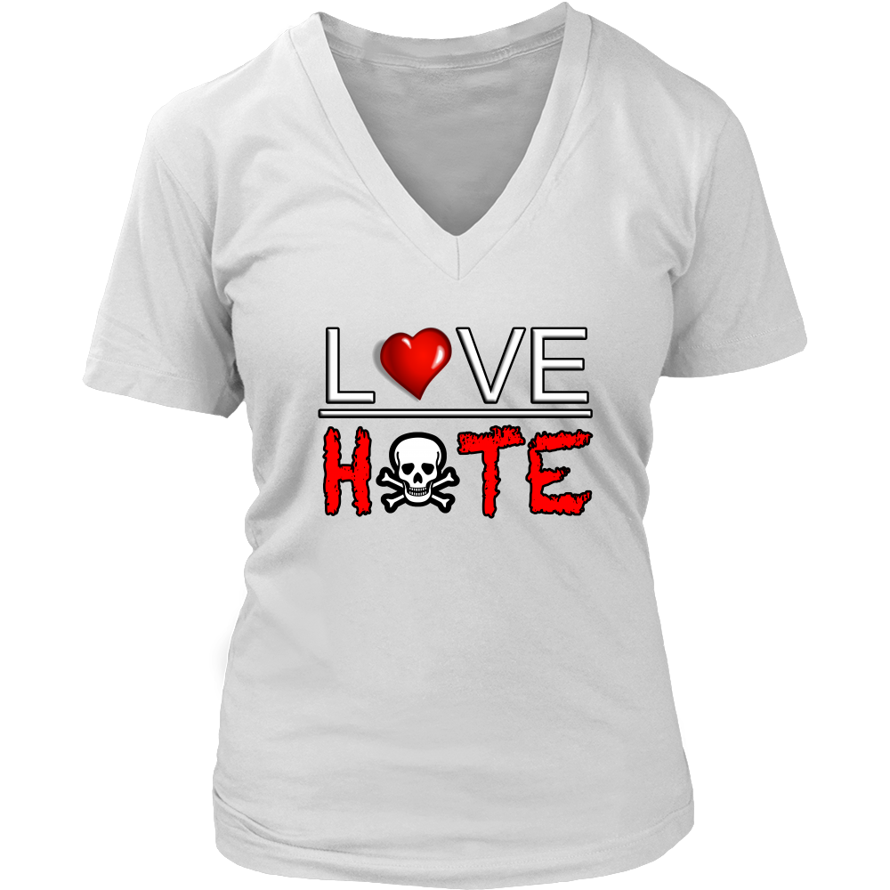 (Love Hate) Women's V-Neck T-Shirt